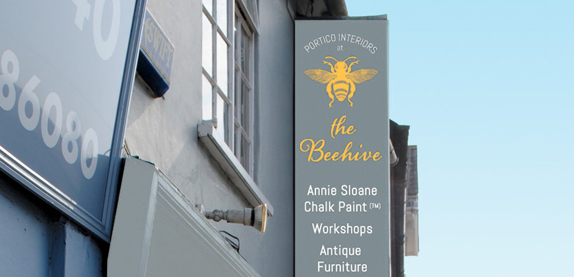 The Beehive logo design