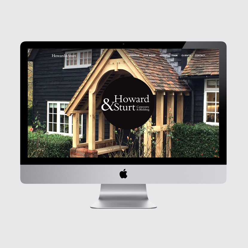Howard & Sturt website design