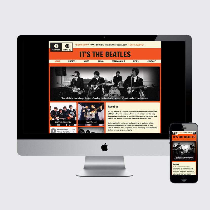 It's the Beatles website design