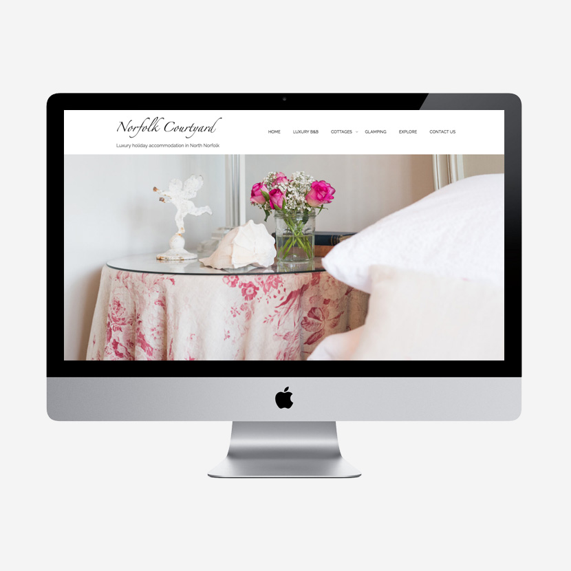 Norfolk Courtyard website re-design