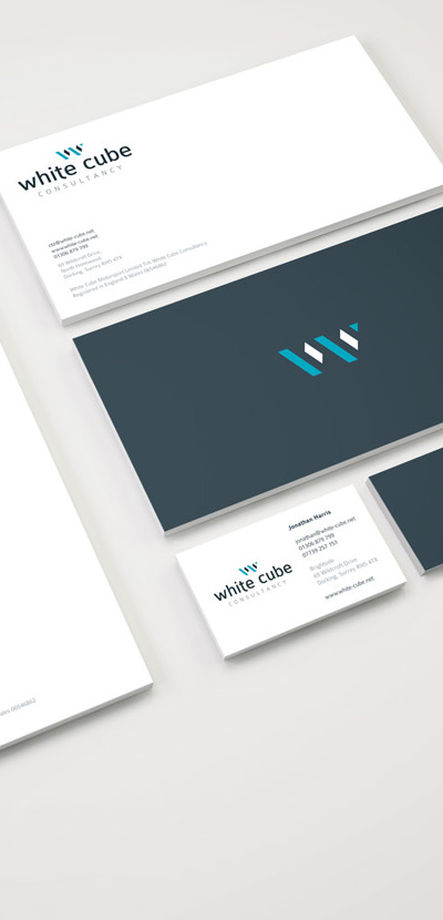 White Cube logo design